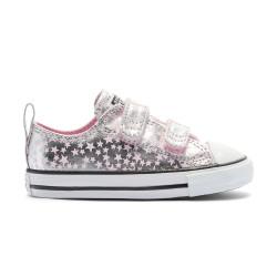 CONVERSE, Chuck taylor all star 2v ox, Pink glaze/silver/white