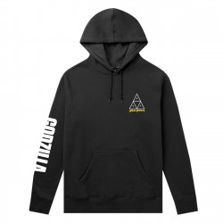 HUF, Sweat godzilla tt hood, Black
