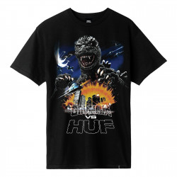 HUF, T-shirt godzilla tour ss, Black