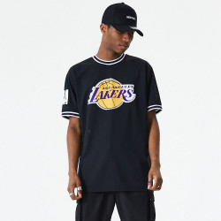 NEW ERA, Nba oversized applique tee loslak, Blk