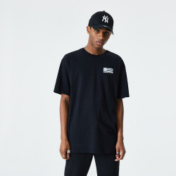 NEW ERA, Ne cont graphic print ss tee, Blk