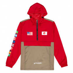 HUF, Jacket flags anorak, Cyber red