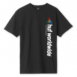 HUF, T-shirt peak sportif ss, Black