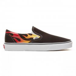 VANS, Classic slip-on, (flame)black/black/tr wht