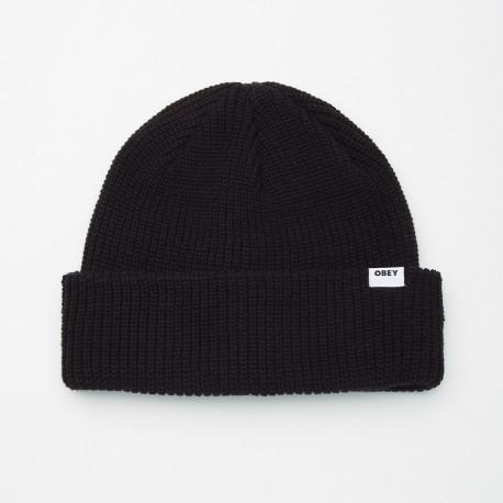 Bold organic beanie - Black