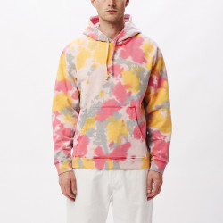 OBEY, Sustainable tie dye fleece, Yellow multi