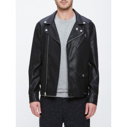 OBEY, Bastards pu jacket, Black