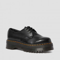 DR. MARTENS, 1461 quad, Black polished smooth