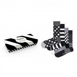 HAPPY SOCKS, 4-pack classic black & white socks gift set, 9100