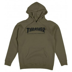 THRASHER, Sweat skate mag hood, Army