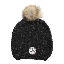 JUST OVER THE TOP, Mol bonnet pompon lurex, Black