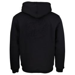 SANTA CRUZ, Japanese dot emboss zip hood, Black