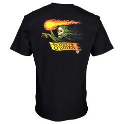 SANTA CRUZ, O'brien reaper t-shirt, Black