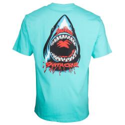 SANTA CRUZ, Speed wheels shark t-shirt, Pacific blue