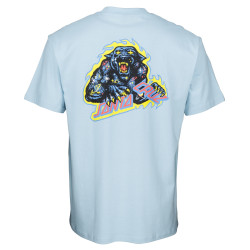 SANTA CRUZ, Cosmic cat strip t-shirt, Powder blue