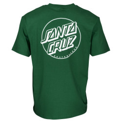 SANTA CRUZ, Opus dot stripe t-shirt, Evergreen