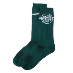 SANTA CRUZ, Opus dot stripe sock, Evergreen