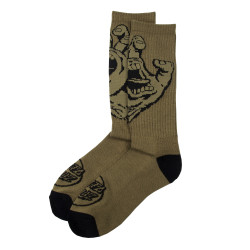 SANTA CRUZ, Screaming hand mono sock, Army green