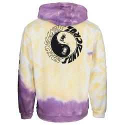 SANTA CRUZ, Scream ying yang hood, Yellow/purple fold dye