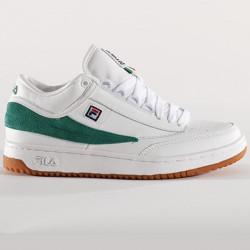 FILA, T-1 mid, White / shade glade / gum