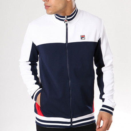 Tiebreaker track jacket - Peacoat-white-red