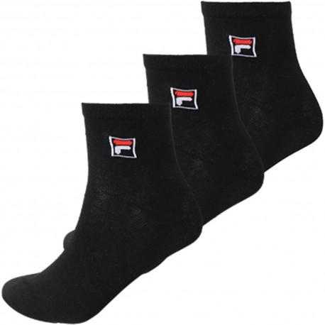Quarter plain socks - Black