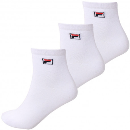 Quarter plain socks - White