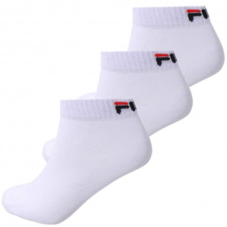 Quarter unisex fila 3 pairs per pack - White