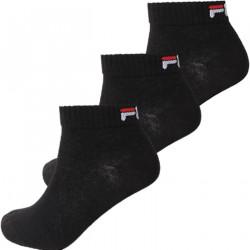 FILA, Quarter unisex fila 3 pairs per pack, Black