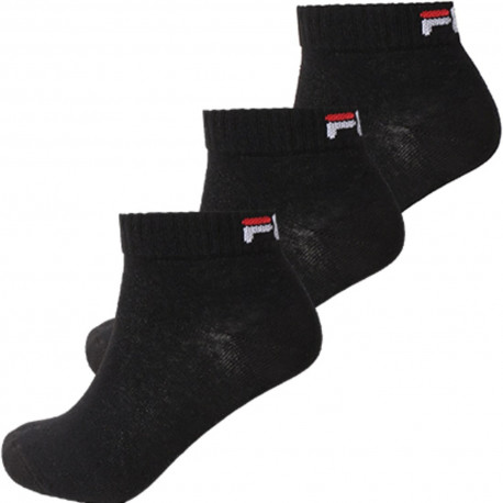 Quarter unisex fila 3 pairs per pack - Black