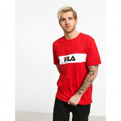 FILA, Men nolan tee dropped shoulder, True red-bright white