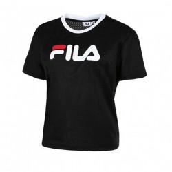 FILA, Women michele cropped mesh tee, Black
