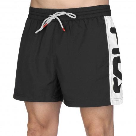 Men safi swim shorts - Black-bright white