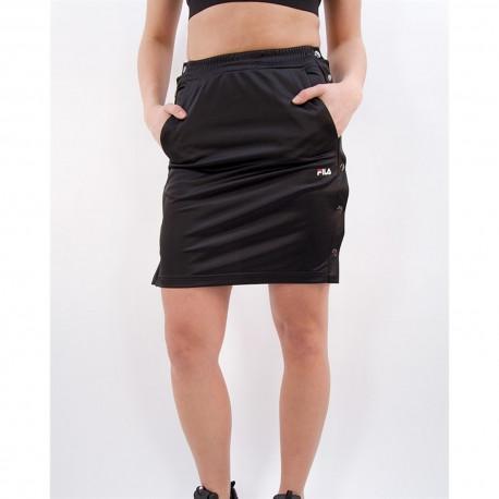 Women jenna buttoned track skirt - Black