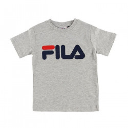 FILA, Kids classic logo tee, Light grey melange bros
