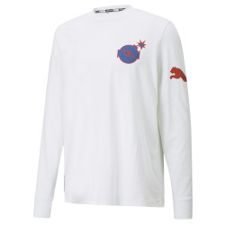 PUMA, Puma x th ls tee, Puma white