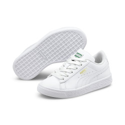 PUMA, Basket classic xxi ps, Puma white-puma white