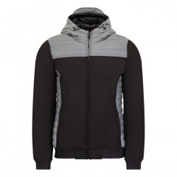 JUST OVER THE TOP, Paco ml capuche softshell, Noir / reflective