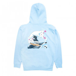 RIPNDIP, Great wave hoodie, Baby blue