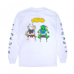 RIPNDIP, Butts up long sleeve, White