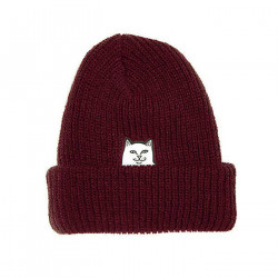 RIPNDIP, Lord nermal ribbed beanie, Burgundy
