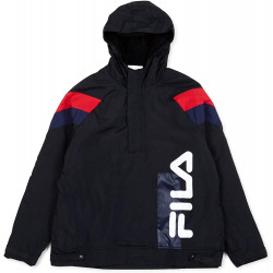 FILA, Men tru faux lambswool lined jacket, White