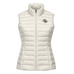 JUST OVER THE TOP, Seda gilet basique, Creme