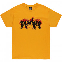 THRASHER, T-shirt crows, Gold