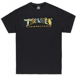THRASHER, T-shirt hieroglyphic, Black