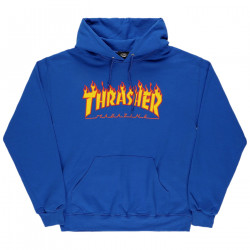 THRASHER, Sweat flame hood, Royal