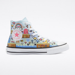 CONVERSE, Chuck taylor all star hi, Chambray blue/bold pink/white