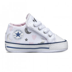 CONVERSE, Chuck taylor all starcribster mid, White/pink/silver