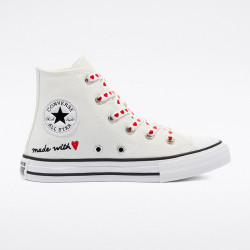 CONVERSE, Chuck taylor all star hi, Vintage white/university red