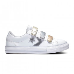 CONVERSE, Star player 3v ox, White/gravel/metallic